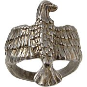 SALE Vintage 925 Sterling Silver Eagle Ring
