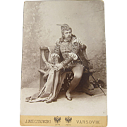 Antique Cabinet Card Photograph of Jean de Reszke as Romeo by J. Mieczkowski Warsaw Poland ...