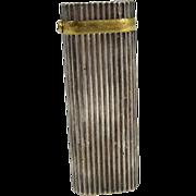 SOLD Vintage Cartier Silver Plated & Sapphire Lighter Paris France