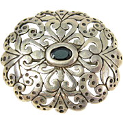Vintage Sterling Silver Brooch Pin Signed