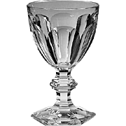 "French Baccarat Harcourt Cut Crystal Water Goblet France 6 1/2"" Tall"