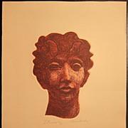 SOLD David Bumbeck Etching / Aquatint Satyr  64/80