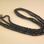 SALE Vintage Natural Sapphire Necklace Over 120ct