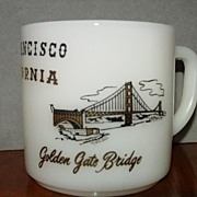 San Francisco Milk Glass Cup Mug Souvenir