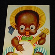 Vintage Mechanical Black Americana / Memorabilia Postcard - Excellent