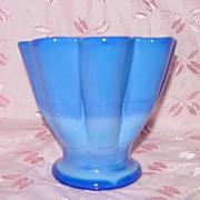 Fenton Periwinkle Blue Melon Vase -1930's