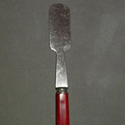 Very Rare Red Bakelite Handled Cookie Spatula