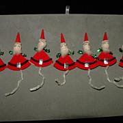 Vintage Spun Cotton Santa Gift Tag Decorations