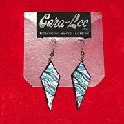 Vintage 1960's Artist Handcrafted Pierced Earrings