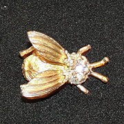 Vintage Insect With Trembler Wings Pin