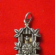 Sterling Silver Mechanical Cuckoo Clock Charm