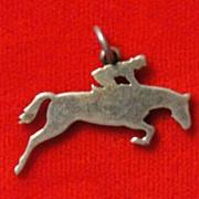 Vintage James Avery Jockey Riding a Horse Sterling Silver Charm