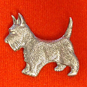 Vintage Sterling Silver Scottish Terrier (Scottie) Pin