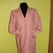SOLD Oscar de La Renta Peach Jacket/Coat