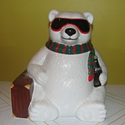 SALE Hollywood or Bust Coke Bear cookie Jar