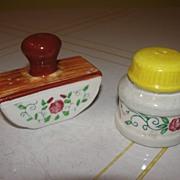 Ink Blotter and Bottle Salt and Pepper Shaker - b28
