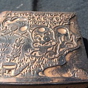 SALE Copper Printing Block #13 Buster and the Bug - Free shipping