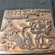 SALE Copper printing Block #20 Buster Smiles - Free shipping
