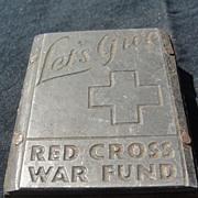 SALE Printing Block #38 - Red Cross War Fund - Free shipping