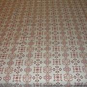 SALE Homespun Earth-tone Pique Tablecloth - b22