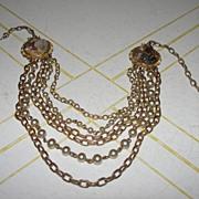 Multi-strand Tumbled stone necklace - Free Shipping