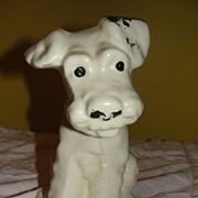 Cute White Scottie Dog vase/Planter - b25