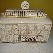 SOLD Treasure Craft Cookie Trolley Cookie Jar