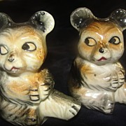 Shifty Eyes Bear Salt and pepper Shakers - b23