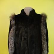 SOLD Espresso Brown Mink with Fox Fur jacket