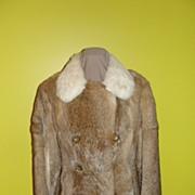 Wascally Wabbit 3/4 Length 70's Rabbit Fur Coat