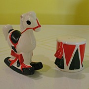 Lefton Rocking Horse and Drum Salt and Pepper Shakers
