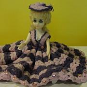 Oh La La Lavender Crocheted Dress Doll - b21