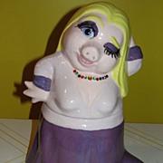 SOLD The Divine Miss Piggy Cookie Jar