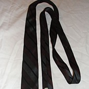 Gray and Maroon Stripe Skinny Tie - free shipping