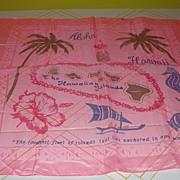 Hawaiian island Pink Chiffon Scarf - Free shipping