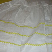 White on white Dotted Swiss Apron - Free Shipping