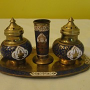 Rock the Casbah Salt and Pepper Shakers on Tray - b57