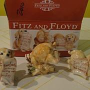Fitz and Floyd ''Dear Santa'' Puppies - b30
