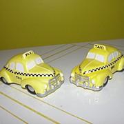 Dept 56 Snow Village Yellow Taxi