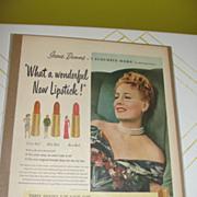 Max Factor ''Irene Dunne'' Lipstick Ad