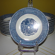 Royal China Currier and Ives ''Old Farm Gate'' Berry Bowls
