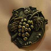 Repousse Grapes Pin/brooch - Free shipping