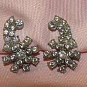 Flower Power Rhinestone Dress/shoe clips - free shipping