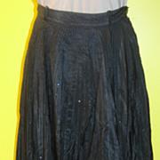 SALE Stardust Black Taffeta Skirt