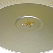 Mirro Medallion Mid-century Atomic Sunburst Large 17'' Platter
