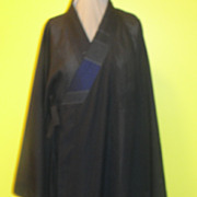 SOLD Semi-sheer Black Floor Length Kimono/robe - Red Tag Sale Item