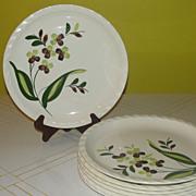 "Blue Ridge Southern Potteries Co ""Spray"" Dinner Plates"