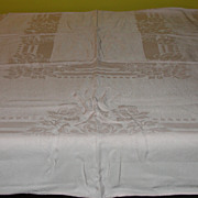 Party Pink Damask Tablecloth