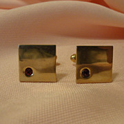 Red Stone Cuff links - Free Shipping