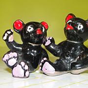 Frolicking Black Bear Salt and Pepper Shakers